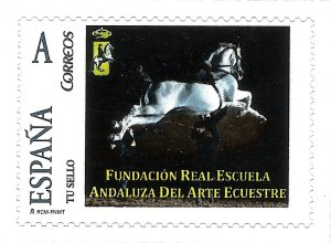 Sello personalizado Real Escuela Andaluza del Arte ecuestre
